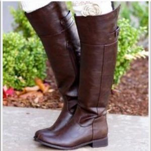 Shoes - Cognac Tall Riding Boots